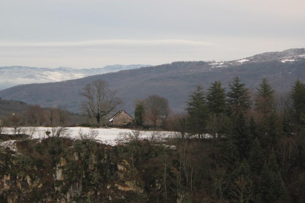 Countryside with Slovenian Alps;  Skojcan Caves; Slovenia; 2011
