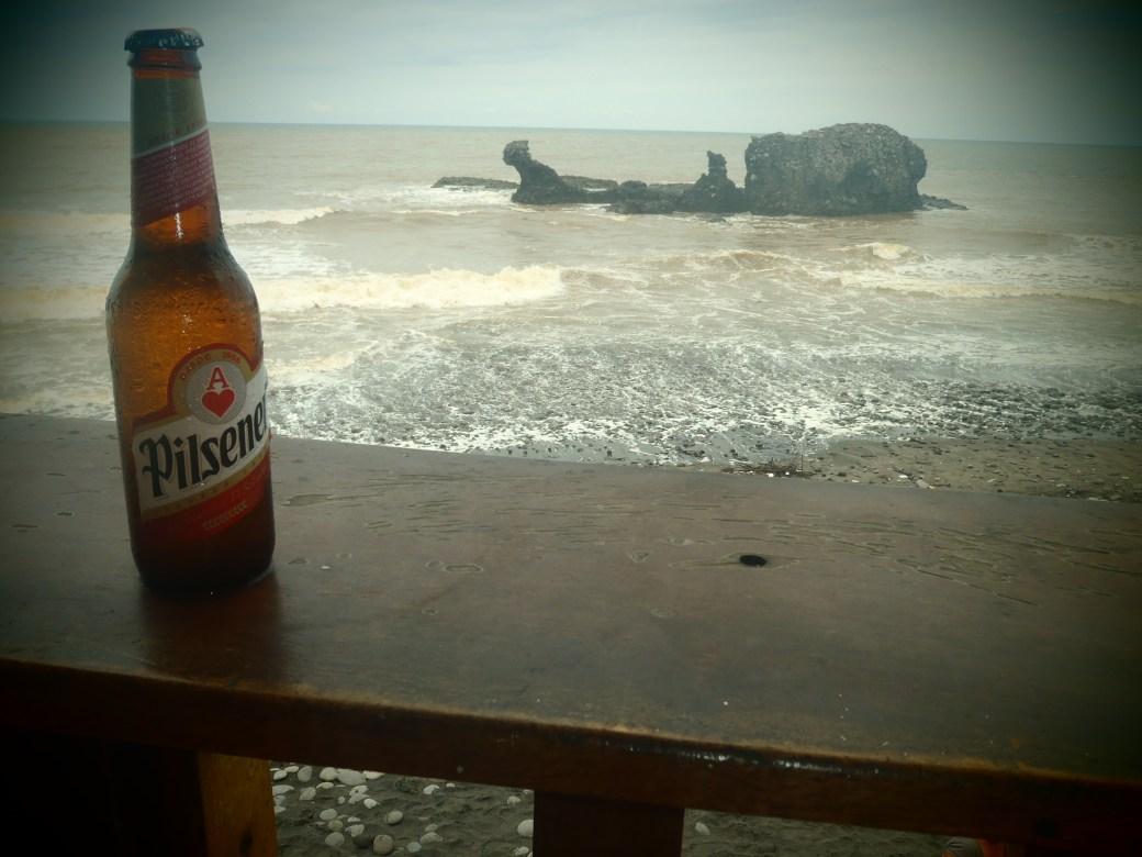 Pilsener with Rocky Beach; El Tunco, El Salvador; 2013