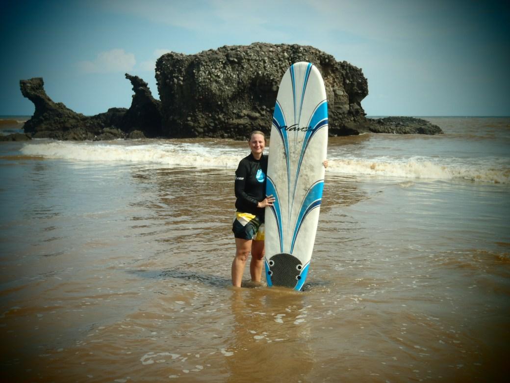 Surf Lesson; El Tunco, El Salvador; 2013