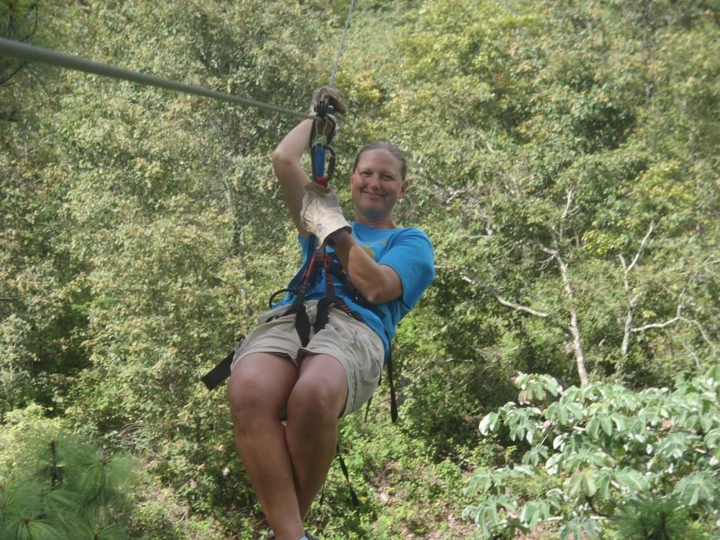 Zip Lining Through the Trees; Copan, Honduras; 2013