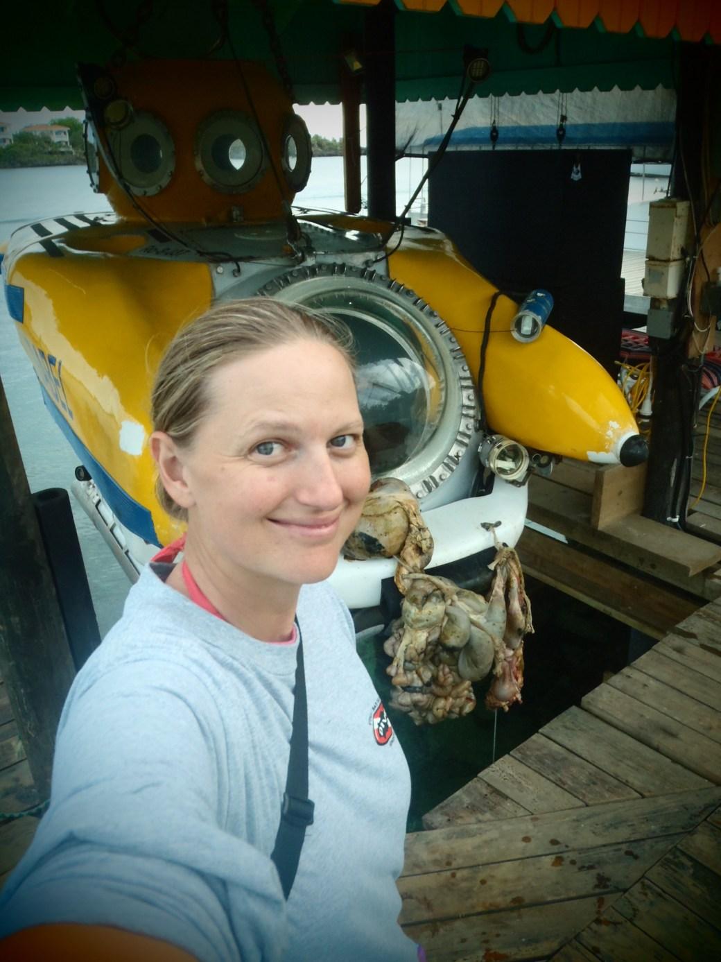 Selfie with Yellow Submarine, Idabel; Roatan, Honduras; 2013