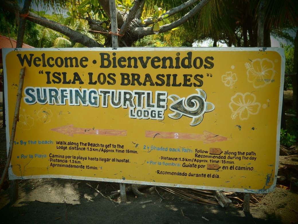 Welcome to the Surfing Turtle Lodge; Isla Los Brasiles, Nicaragua; 2013