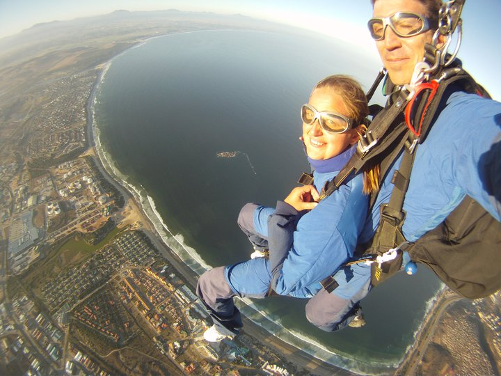 First Sky Dive; Mossel Bay, South Africa; 2011