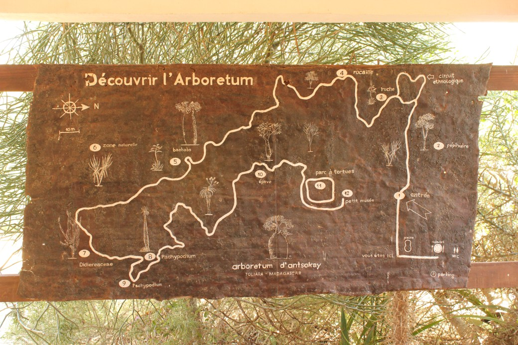 Map of Arboretum d'Antsokay; Toliara, Republic of Madagascar; 2013