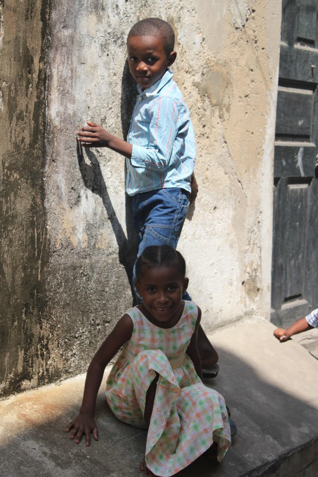 Kids Posing; Stone Town, Zanzibar, Tanzania; 2011