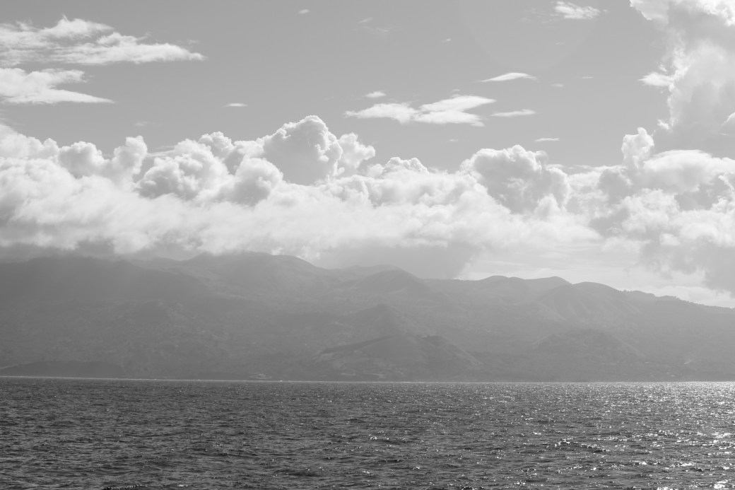 Mountains in Black-n-White; Comoros; 2014