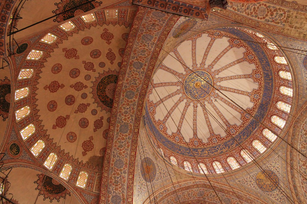 Interior Design of Blue Mosque; Istanbul, Turkey; 2013