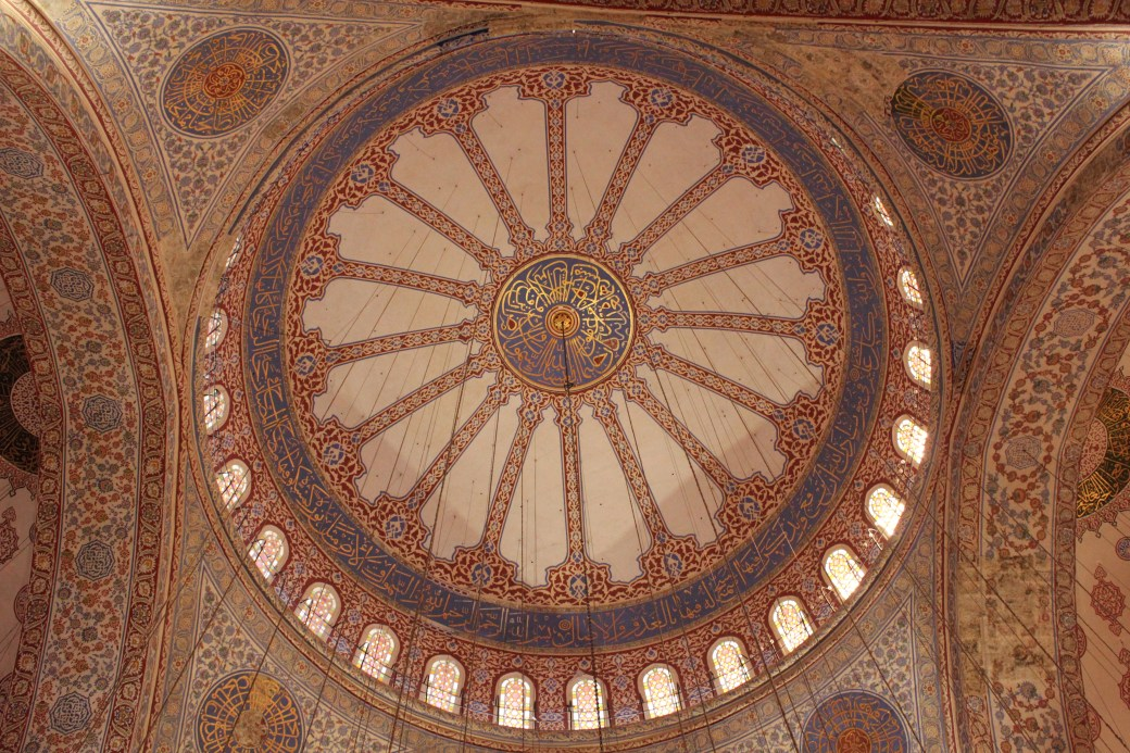 Intricate Ceiling Design of Blue Mosque; Istanbul, Turkey; 2013