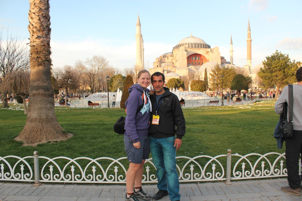 Faruk and In Front of Hagia Sophia; Istanbul, Turkey; 2013