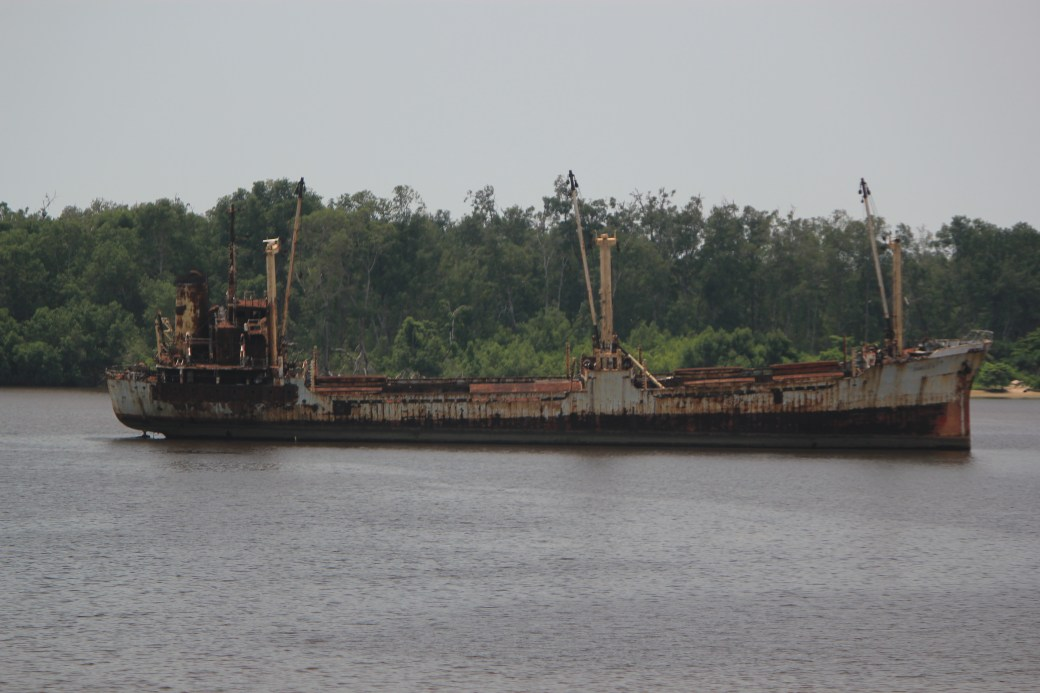 Old Tanker off Coast; Democratic Republic of Congo; 2012