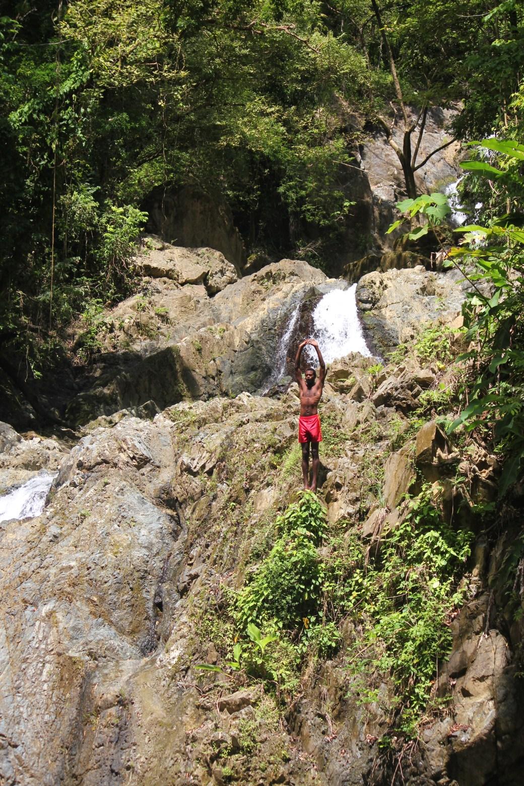Waterfall Performer; Argyle Waterfalls & Nature Park, Tobago; 2011