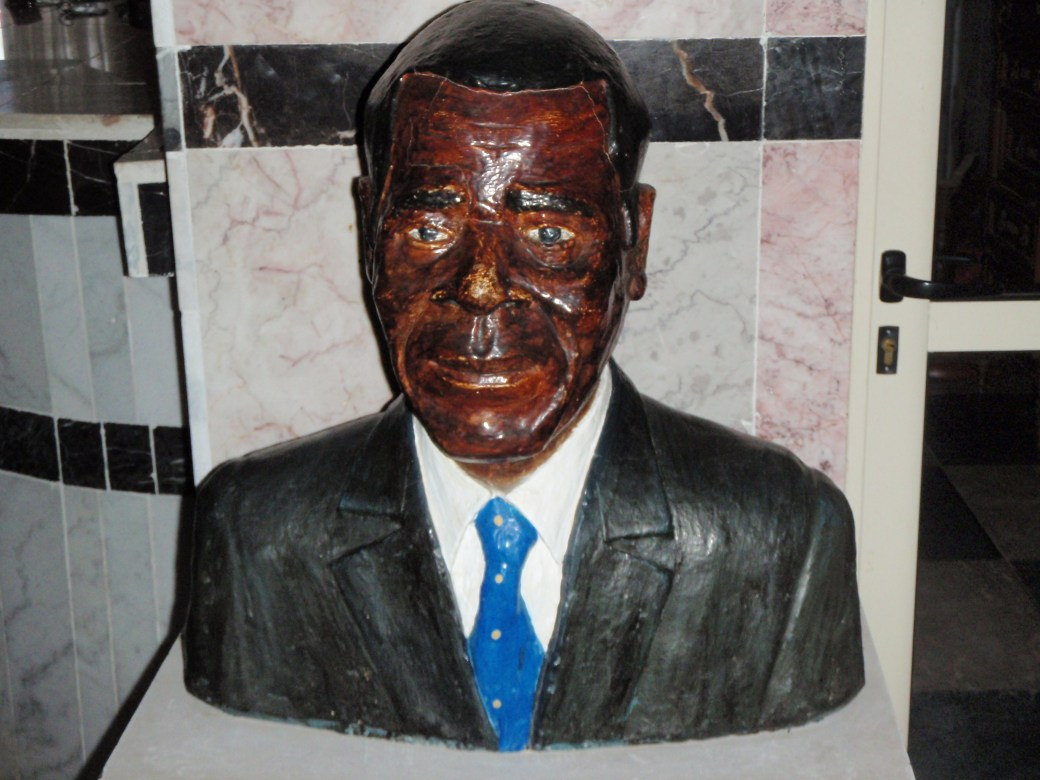 Head Statue of Important Figure; Malabo, Equatorial Guinea; 2010