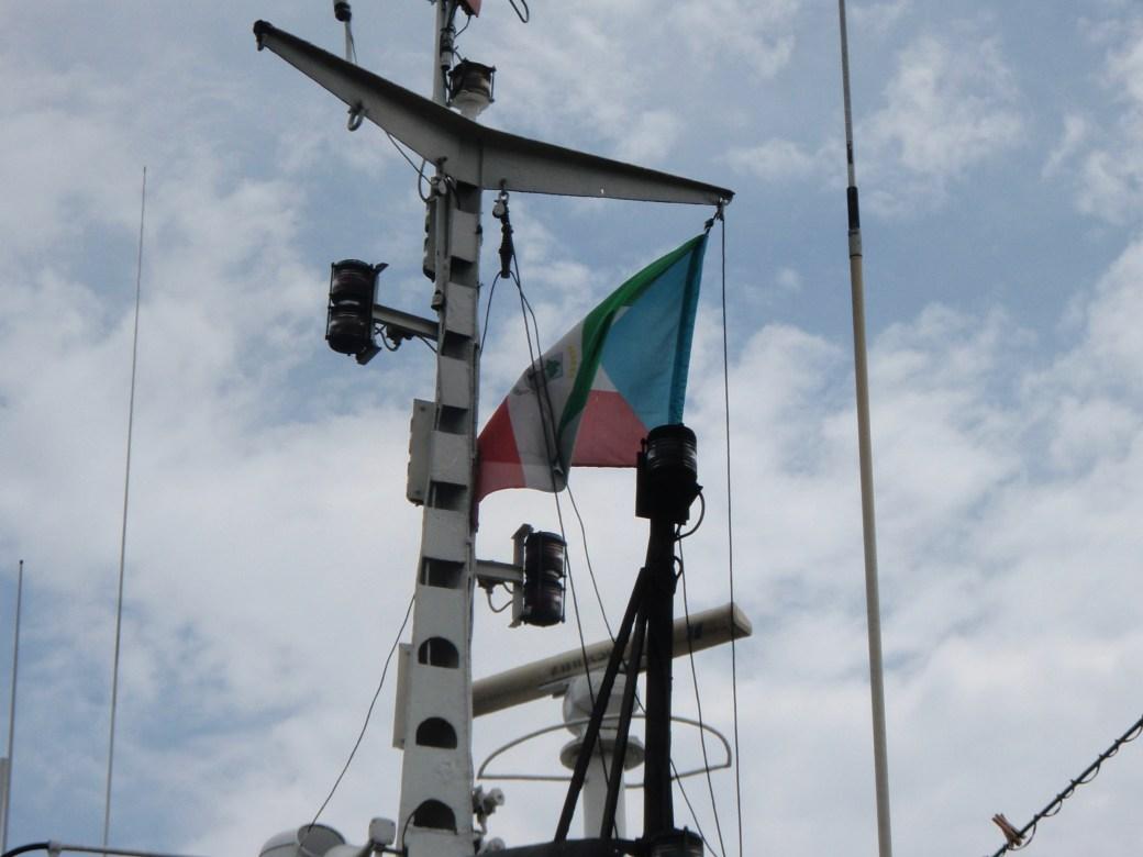 Equatorial Guinea Flag; Malabo, Equatorial Guinea; 2010