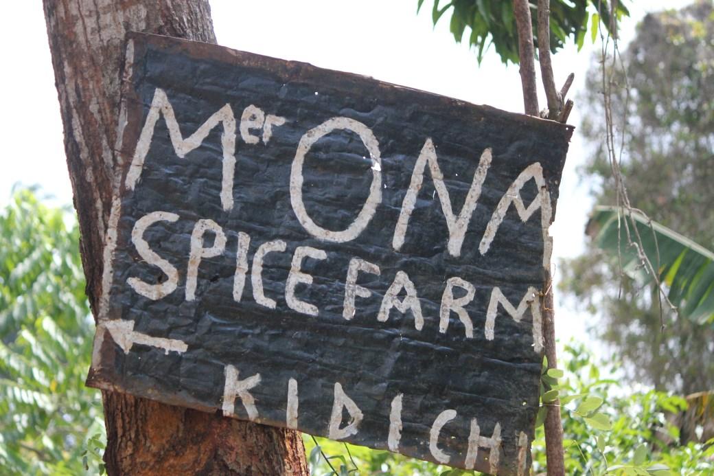 Spice Tour Sign; Stone Town, Zanzibar, Tanzania; 2011