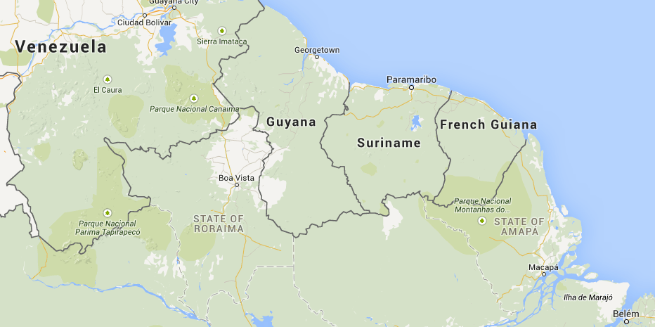 Location of French Guiana in South America