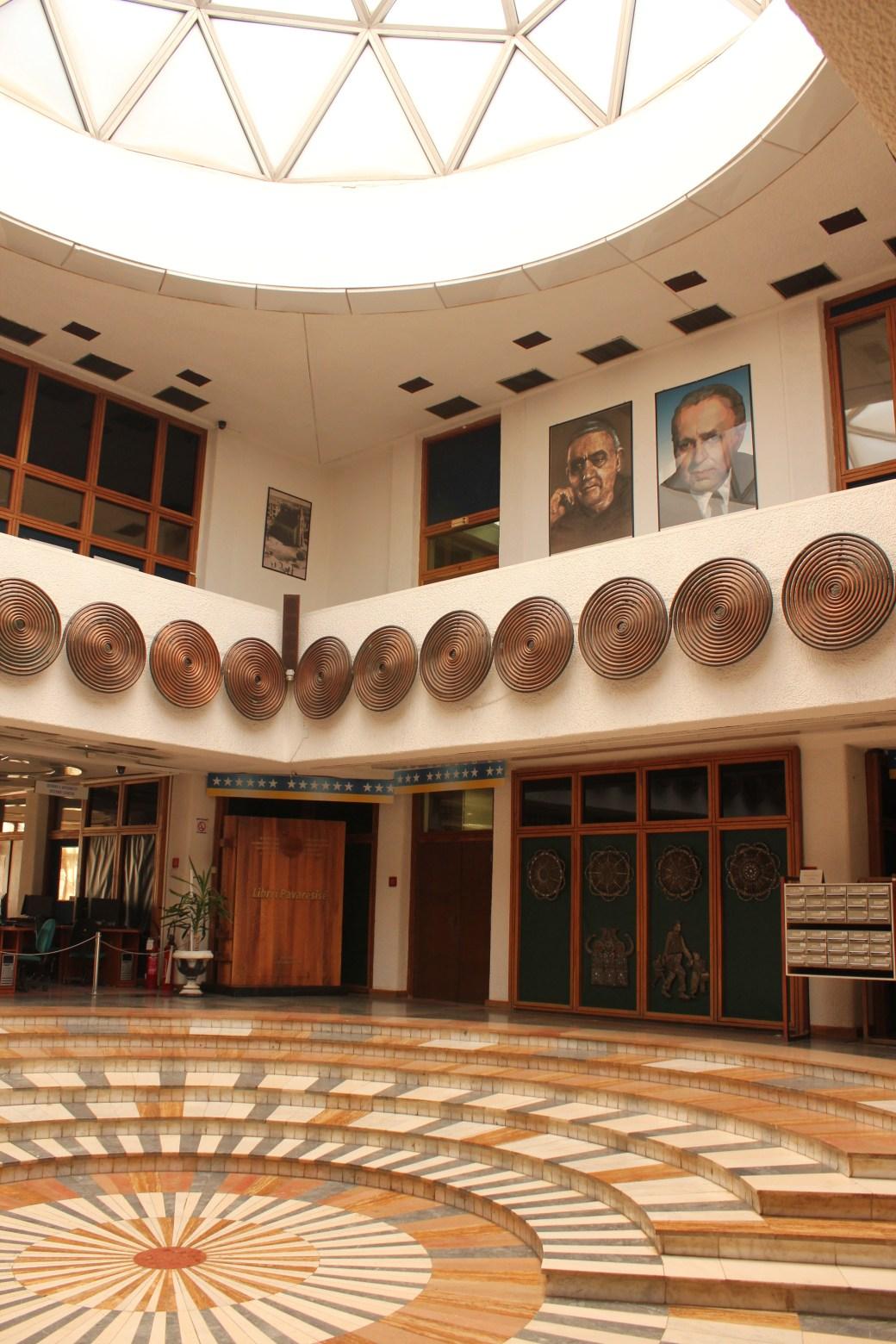 Inside of University Library; Pristina, Kosovo; 2013