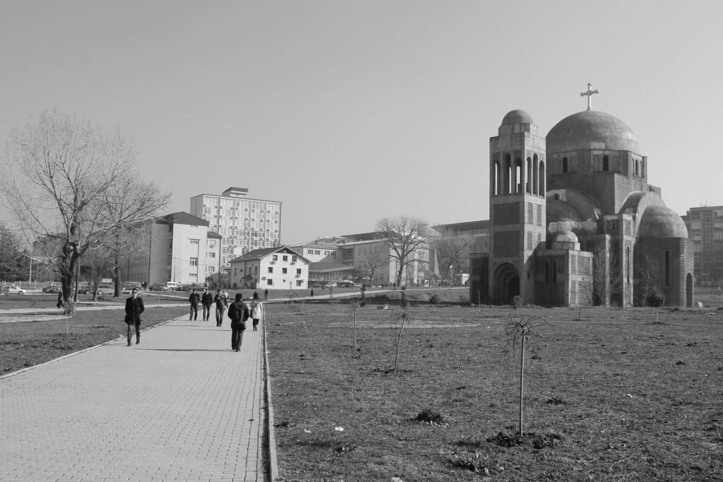 Landscape with Serbian Orthodox Church; Pristina, Kosovo; 2013