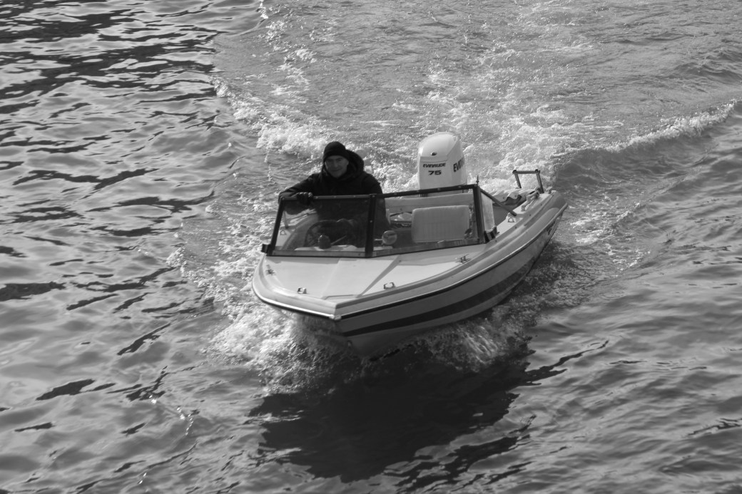 A Boat in Black-n-White; Venice, Italy; 2011