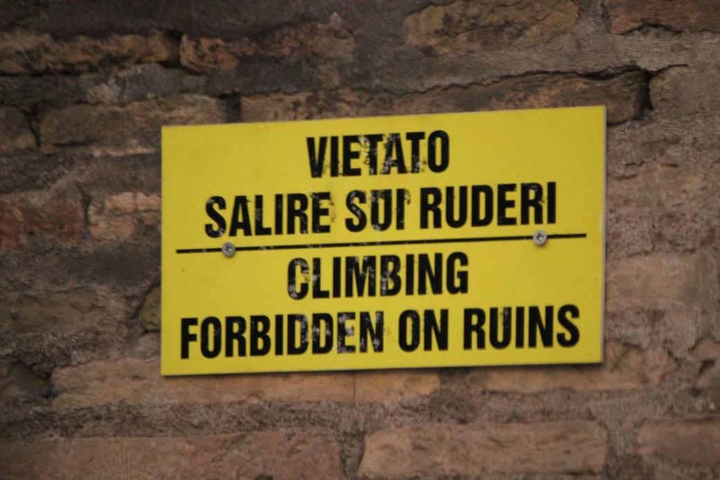 Climbing Forbidden; Rome, Italy; 2011