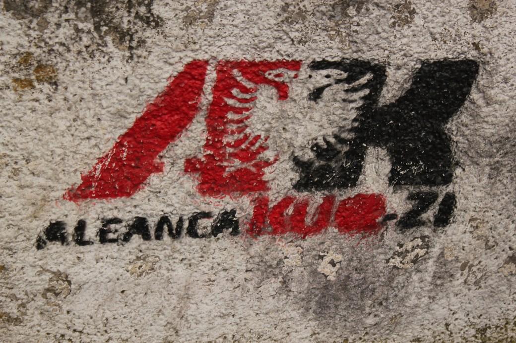 Flag Graffiti; Tirana, Albania; 2013