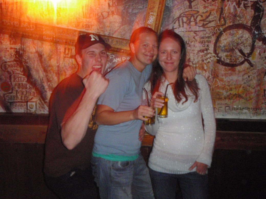 Polish Best Mate, Beata and I with Dutchman; Amsterdam, Netherlands; 2010