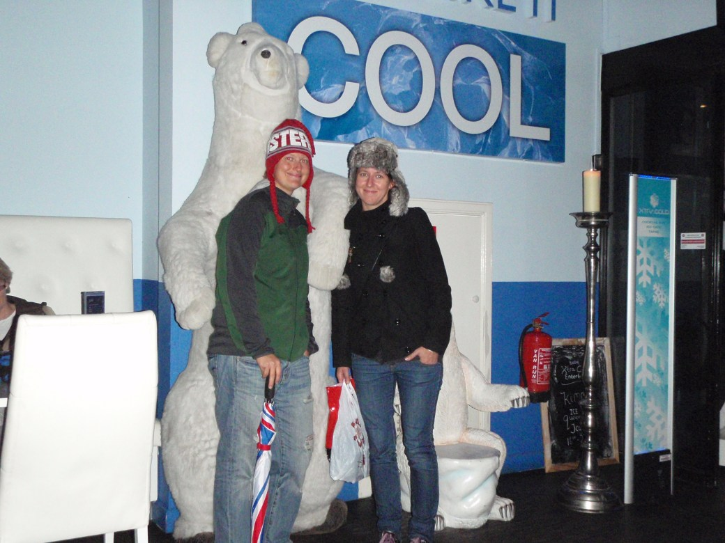 Polish Best Mate, Beata and I in Ice Bar; Amsterdam, Netherlands; 2010