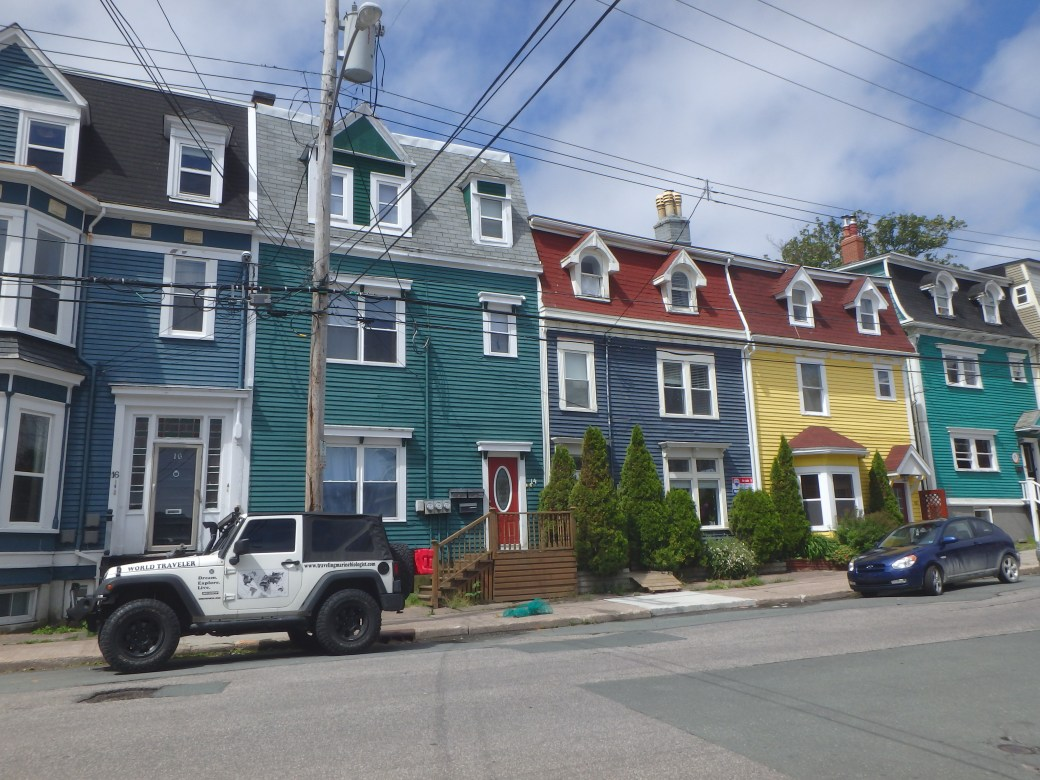 Colored Row of Houses; Saint John's, Newfoundland; 2015