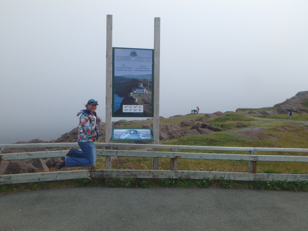 Eastern Most Point of North America; Jessica's Signature Jumpin' Photograph; Cape Spear, Newfoundland; 2015