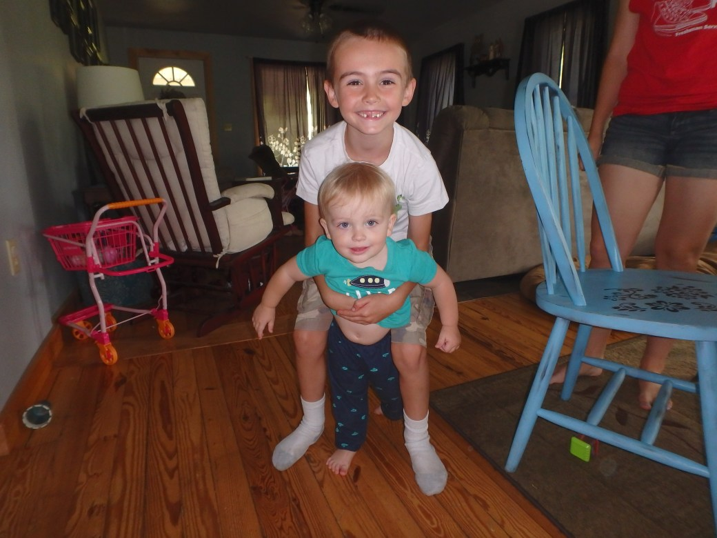 Michael and kid brother, Colin James (Brianna is missing from the photograph); Wellsboro, PA; 2015