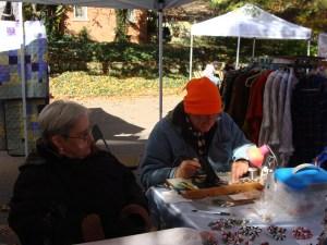Glass-Spinners Richard and Doris Brzezicki stained glass shawls sun catchers