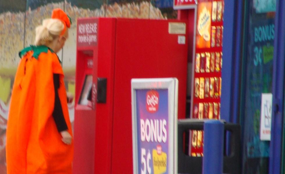 sexy pumpkin renting a movie