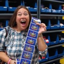 Pennsylvania flag stickers Traveling Marla