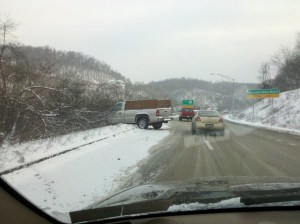 Jeepgasm 4 wheel drive snow bad roads Pennsylvania 2012