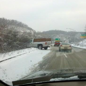 Jeepgasm 4 wheel drive snow bad roads Pennsylvania 2012