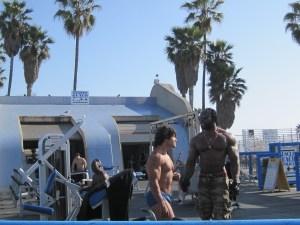 Muscle Beach Venica CA travel Los Angeles Venice Beach California writer blogger bodybuilding weight training