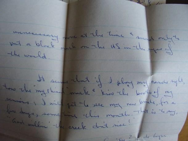 letter from sailor cuban blockade