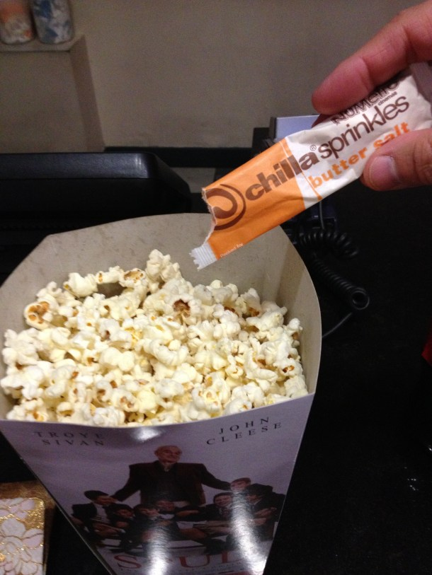 popcorn butter alternative sprinkle packets South Africa movie theater popcorn