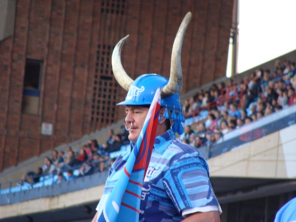 super fan Blue Bulls Super Rugby Pretoria South Africa