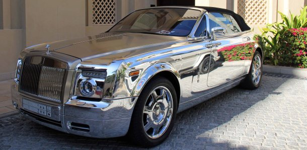 Rolls Royce Phantom Chrome Crown Prince 2 DubaiX travelX Rolls Royce Phantom ChromeX Crown Prince Rolls RoyceX Saudi Arabia Rolls Royce 1 ZHH