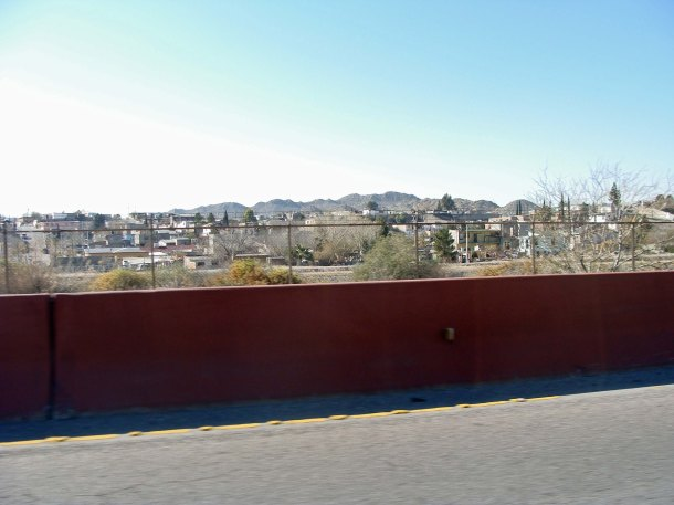 Looking across the border into Juarez, Mexico
