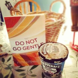 """Reading, with a pint of Ben & Jerry's ice cream is the way to go."" Submitted by a reader in Pennsylvania"
