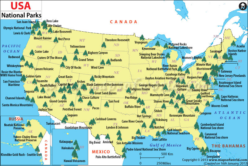 travel America national parks