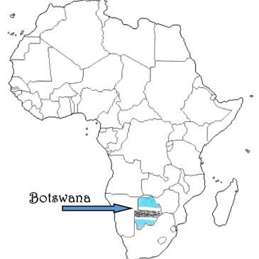 Botswana map flag outline Traveling Marla