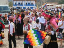 Pisac town anniversary procession3