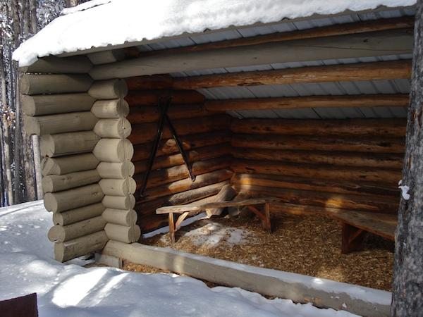 Shelter on the ski trail.