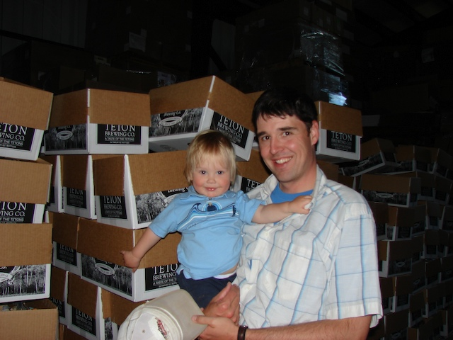 Anders and Henry at the brewery