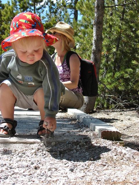 Anders picks up rocks