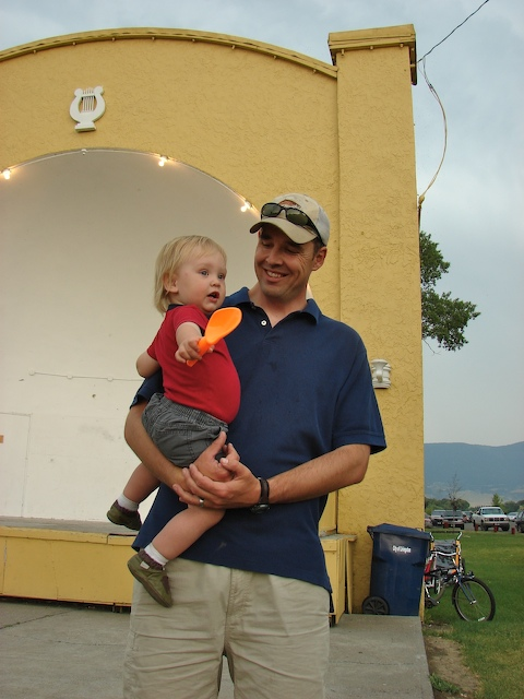 Henry and Anders at the bandshell