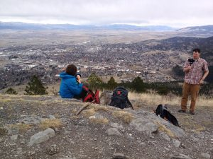 Mount Helena Trail in the South Hills, view from the top