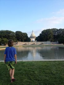 Anders at the Capitol Building in Washington DC